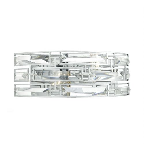 Seville 2 Light Wall Bracket Polished Chrome Crystal (Class 2 Double Insulated) BXSEV0950-17